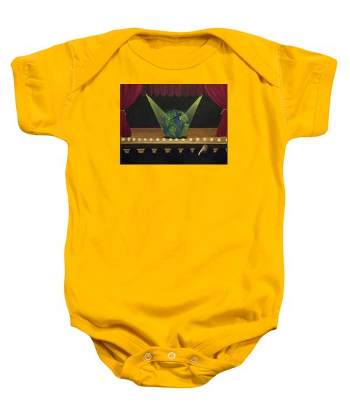All The World's On Stage Baby Onesie