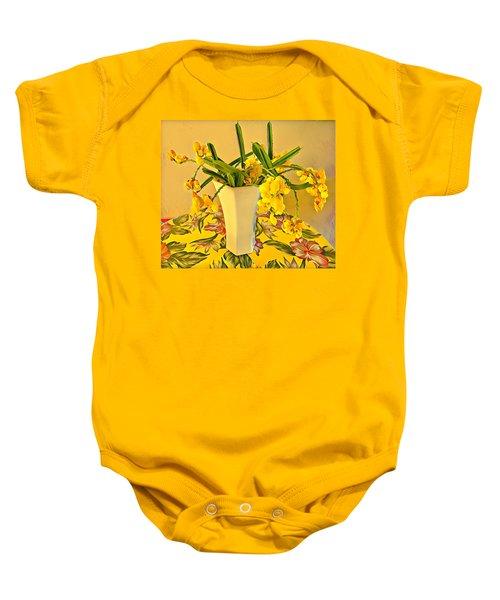 Aloha Bouquet Of The Day - Yellow Wild Flowers Baby Onesie