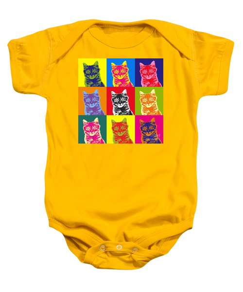 Andy Warhol Cat Baby Onesie