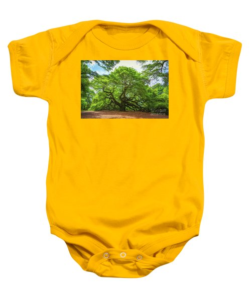 Angel Oak Tree In South Carolina  Baby Onesie