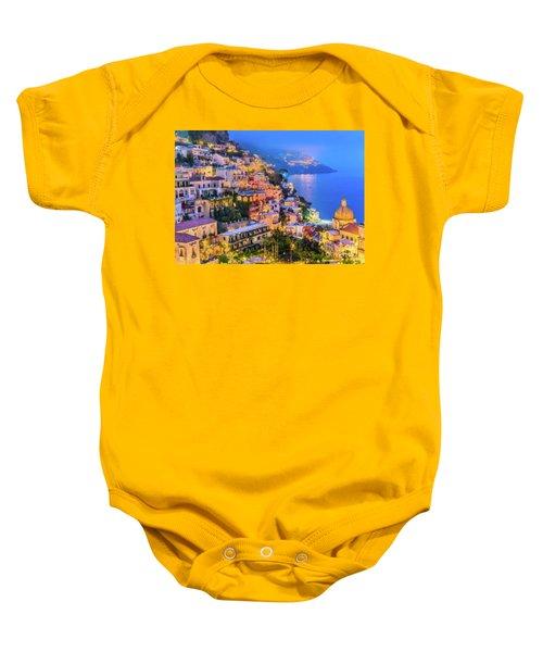 Another Glowing Evening In Positano Baby Onesie