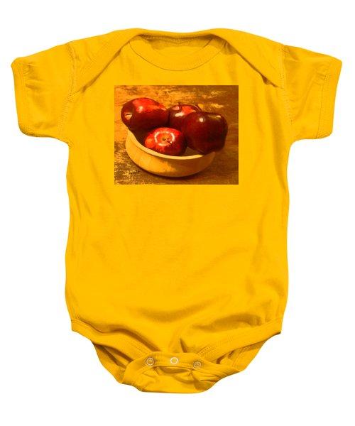 Apples In A Bowl Baby Onesie