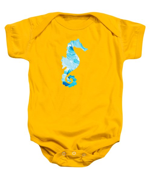 Aqua Abstract Painting Baby Onesie by Christina Rollo