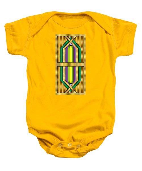 Art Deco 14 Vertical Baby Onesie