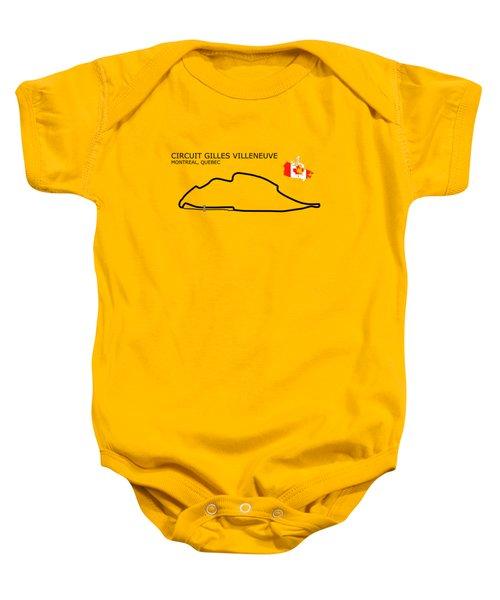 Circuit Gilles Villeneuve Baby Onesie by Mark Rogan