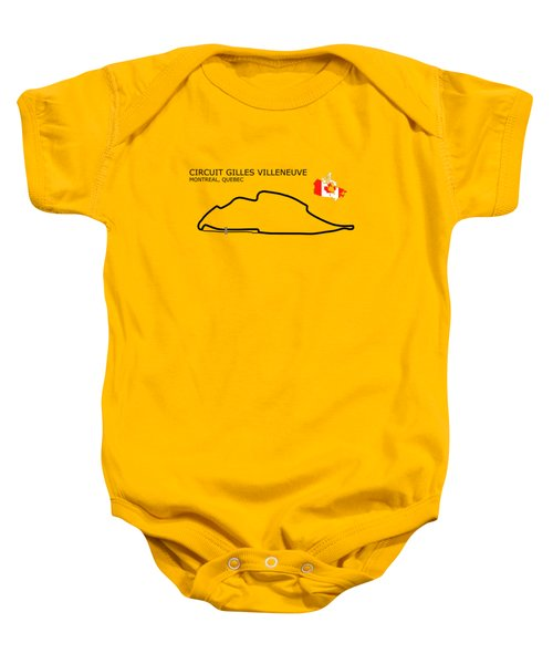 Circuit Gilles Villeneuve Baby Onesie
