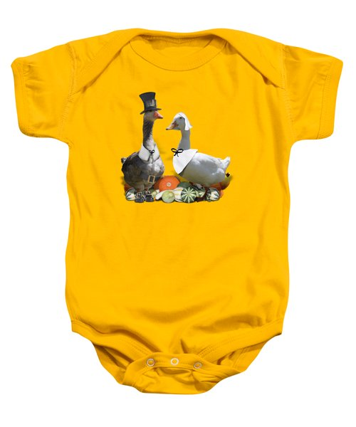 Thanksgiving Pilgrim Ducks Baby Onesie