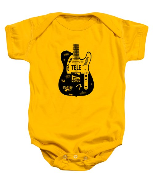 Fender Telecaster 64 Baby Onesie by Mark Rogan