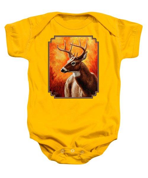 Whitetail Buck Portrait Baby Onesie