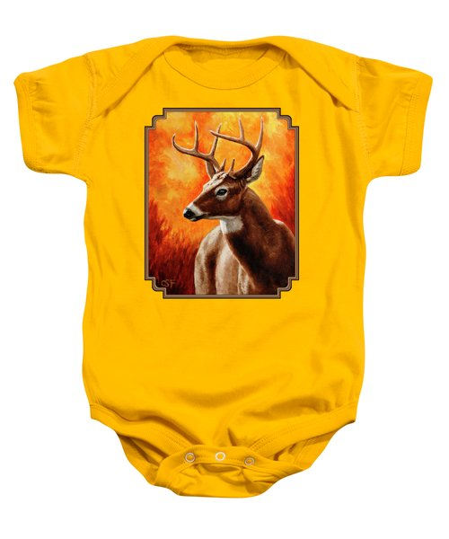 Whitetail Buck Portrait Baby Onesie