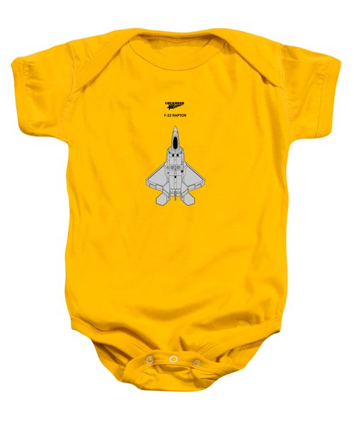 F-22 Raptor - White Baby Onesie by Mark Rogan