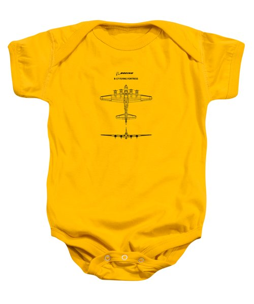 B-17 Flying Fortress Baby Onesie by Mark Rogan