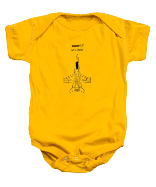 The F-18 Hornet Baby Onesie by Mark Rogan