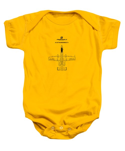 The A-10 Thunderbolt Baby Onesie by Mark Rogan