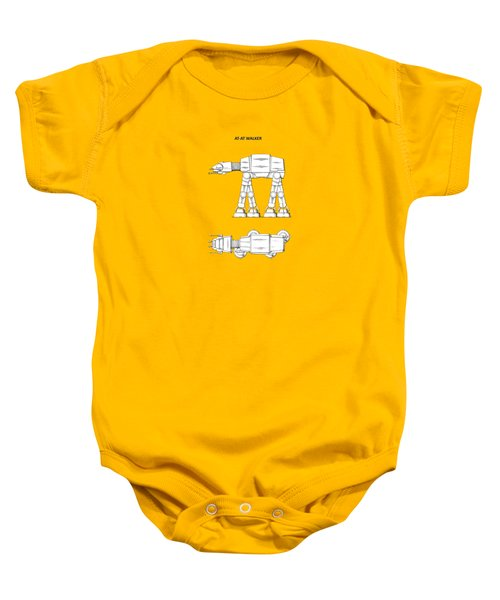 Star Wars - At-at Patent Baby Onesie by Mark Rogan