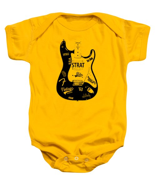 Fender Stratocaster 63 Baby Onesie by Mark Rogan