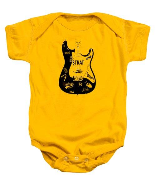 Fender Stratocaster 64 Baby Onesie by Mark Rogan