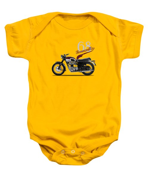 Triumph Bonneville T120 1968 Baby Onesie by Mark Rogan