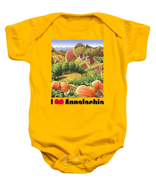 I Love Appalachia - Appalachian Pumpkin Patch - Rural Farm Landscape Baby Onesie