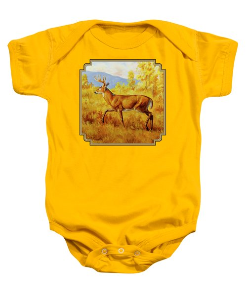 Whitetail Deer In Aspen Woods Baby Onesie