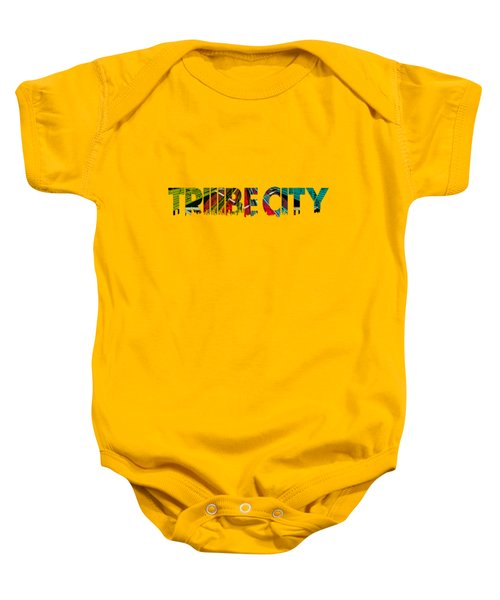 Baby Onesie featuring the painting Tribe Lives by Chief Hachibi