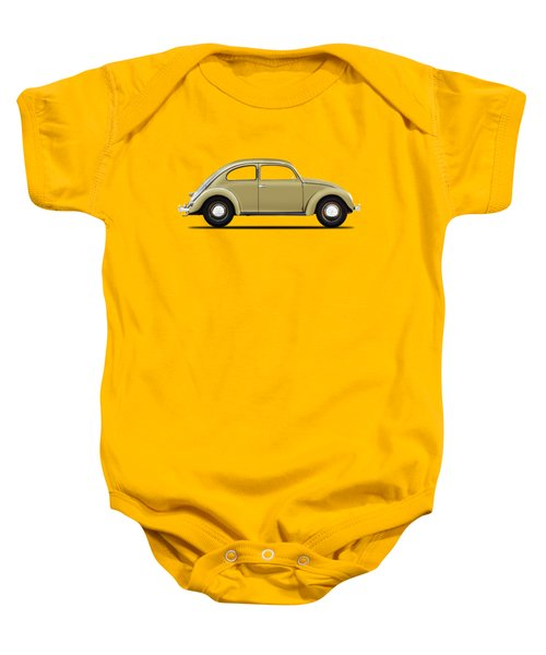 Vw Beetle 1946 Baby Onesie by Mark Rogan