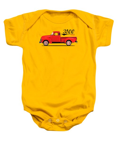 The 3100 Pickup Truck Baby Onesie by Mark Rogan