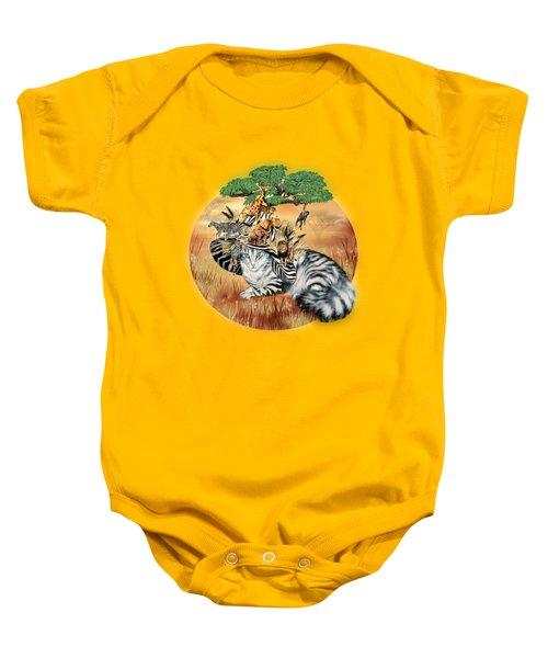 Cat In The Safari Hat Baby Onesie