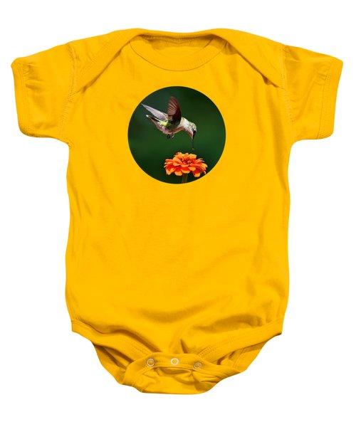 Hummingbird Bullseye Baby Onesie by Christina Rollo