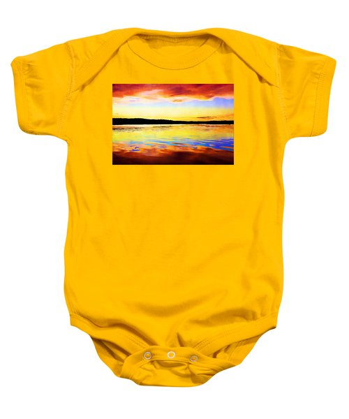 As Above So Below - Digital Paint Baby Onesie