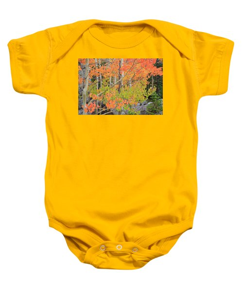 Baby Onesie featuring the photograph Aspen Stoplight by David Chandler