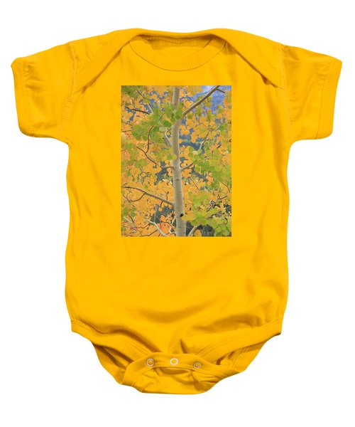 Aspen Watching You Baby Onesie by David Chandler