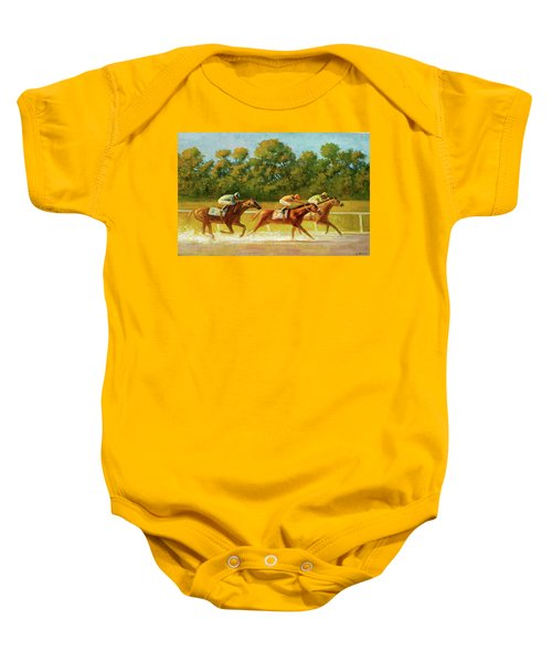 At The Finish Line Baby Onesie