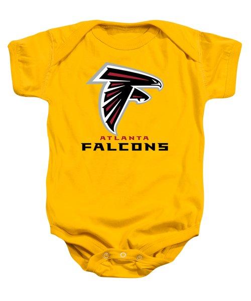 Atlanta Falcons On An Abraded Steel Texture Baby Onesie