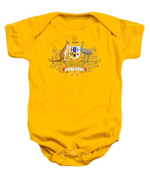 Australia Coat Of Arms Baby Onesie by Movie Poster Prints