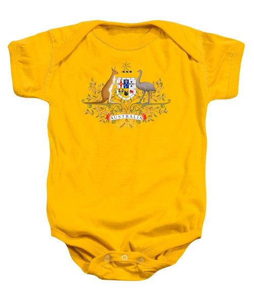 Australia Coat Of Arms Baby Onesie
