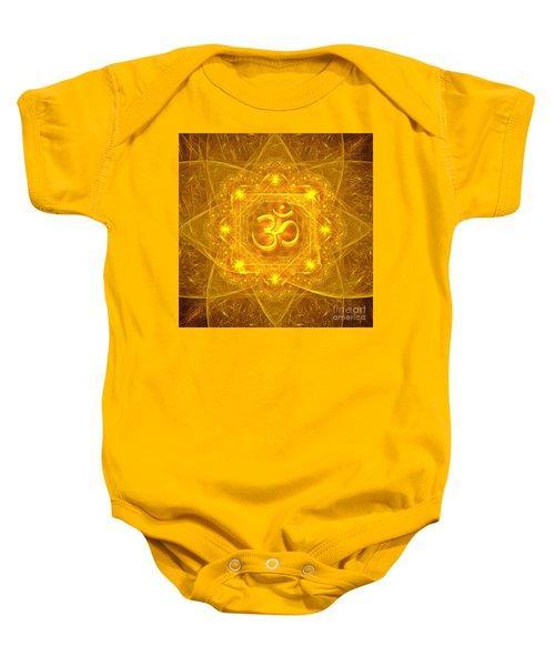 Authentic Om  Baby Onesie