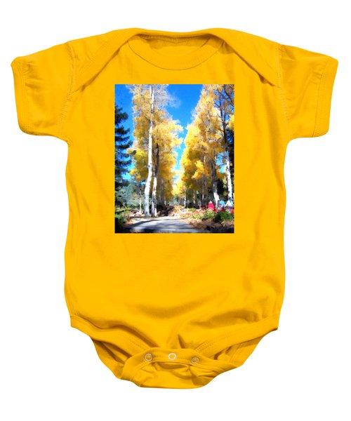 Autumn Aspens Baby Onesie
