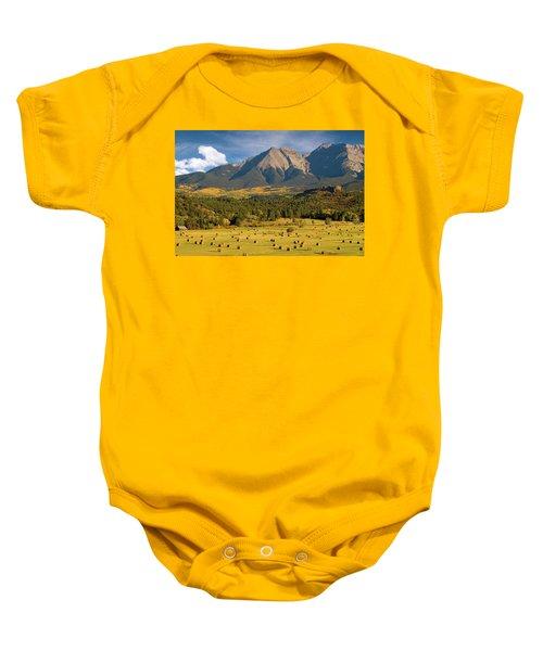 Autumn Hay In The Rockies Baby Onesie