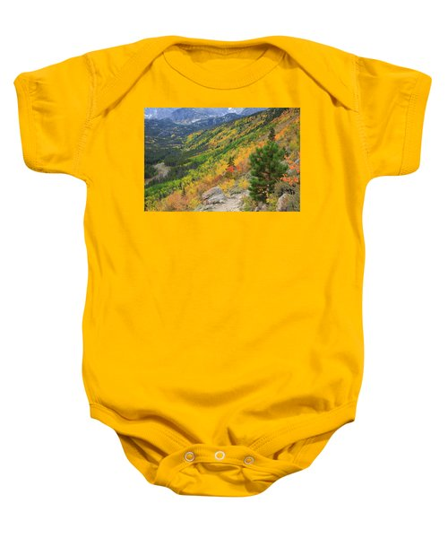 Baby Onesie featuring the photograph Autumn On Bierstadt Trail by David Chandler