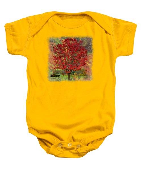Autumn Scenic 2 Baby Onesie by John M Bailey