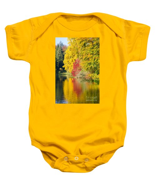 Autumn Trees Baby Onesie