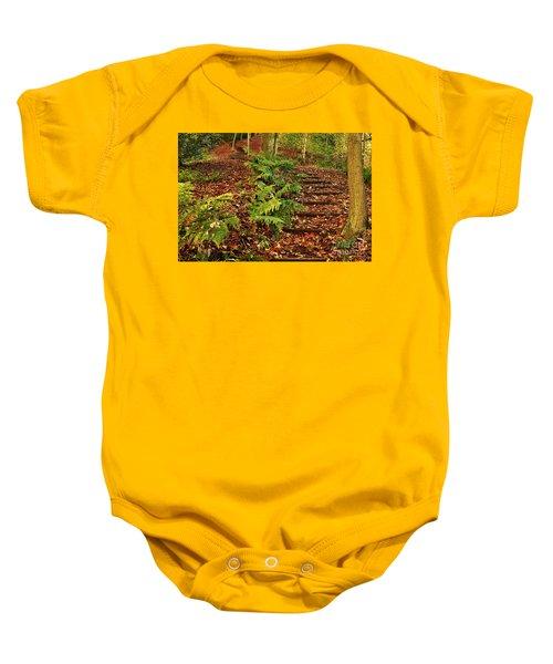 Autumn Woodland Path Baby Onesie