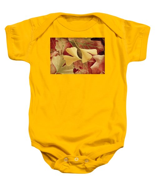 Autumn Yellow Baby Onesie