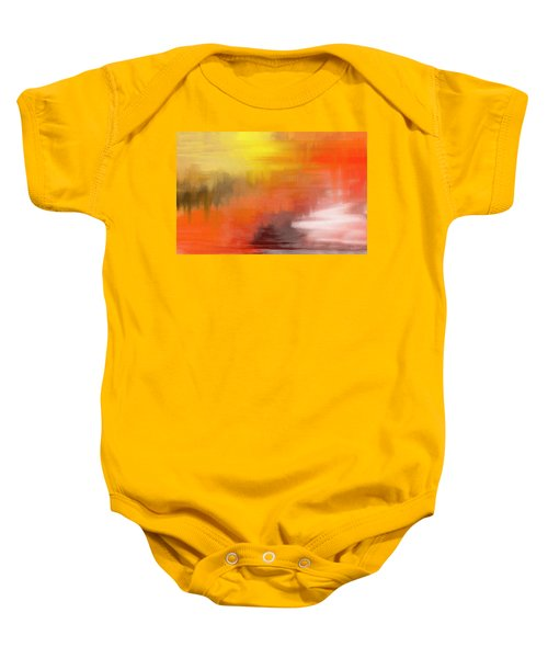 Autumnal Abstract  Baby Onesie