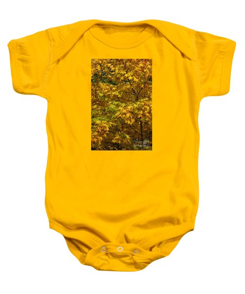 Autumnal Leaves And Trees 2 Baby Onesie