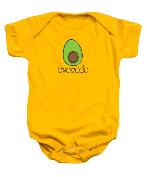 Avocado Baby Onesie by Monette Pangan