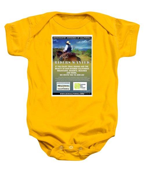 Backcountry Horsemen Join Us Poster Baby Onesie