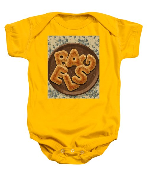 Bagels Baby Onesie by La Reve Design