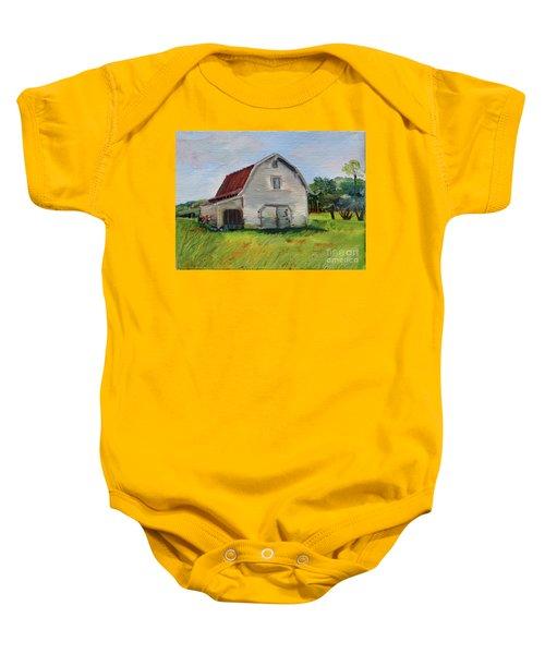Barn-harrison Park, Ellijay-pinson Barn Baby Onesie